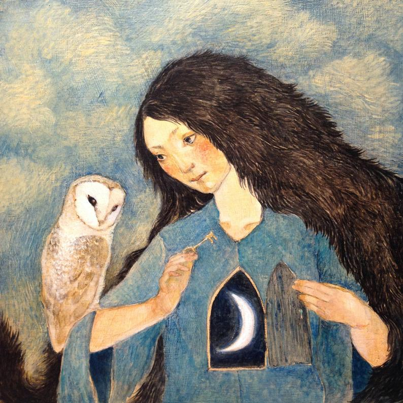 Image of Woman with Owl