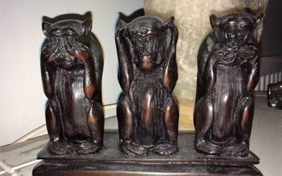 Three Wise Monkeys?  Don't you mean Three Wise Men?